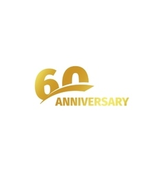 Isolated abstract golden 60th anniversary logo vector