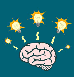 light bulb around human brain vector image