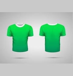 mockup blank green realistic sport t-shirt vector image