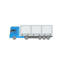 modern cargo trailer truck side view vector image