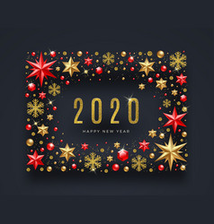 New year 2020 greeting design vector