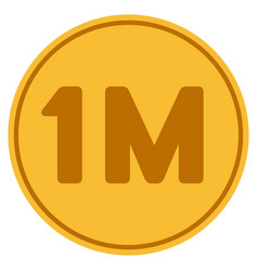 One million gold coin vector
