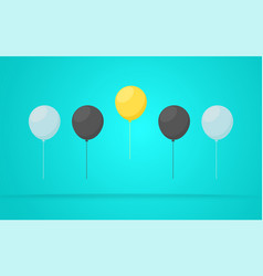 outstanding unique yellow balloon vector image