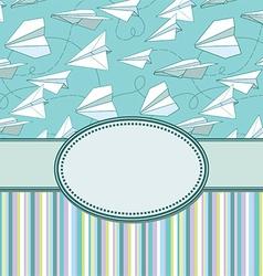 Paper plans border frame vector image