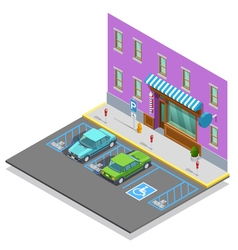 Parking Zone Isometric Template vector
