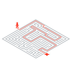Pass way intricacy labyrinth isometric maze 3d vector