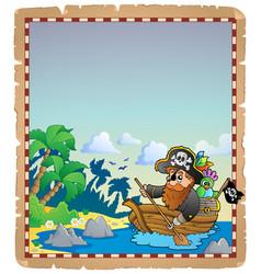 Pirate theme parchment 4 vector