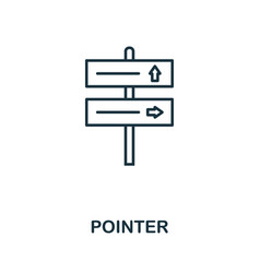 pointer outline icon thin line concept element vector image