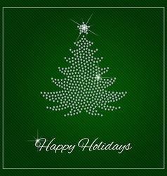 Rhinestone Christmas Template vector