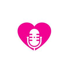 romantic podcast logo icon design vector image
