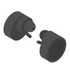 Round wireless headphones icon isometric style vector