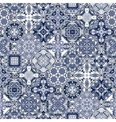 Seamless pattern of square mosaics vector image