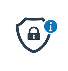 security icon with information sign vector image
