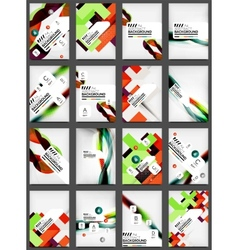 Set of Flyer Templates Business Web Layouts vector image