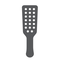 Sex spanking paddle glyph icon sex toy and adult vector
