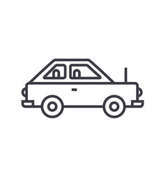 simple car line icon sign on vector image