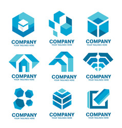 simple corporate company logo collection vector image