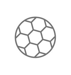 Soccer ball line icon vector