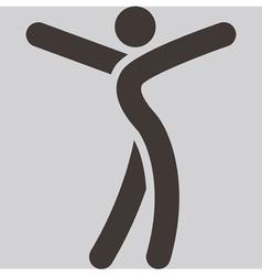 sport dancing icon vector image