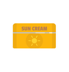 Sun cream icon flat style vector