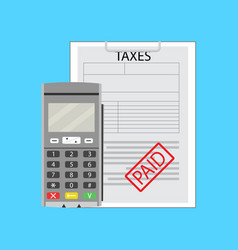 taxation earning flat vector image