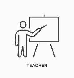 Teacher line icon outline vector