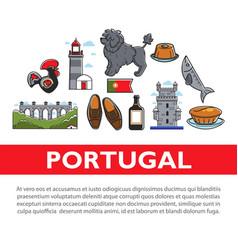 Travel to portugal portuguese symbols architecture vector