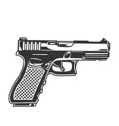 Vintage glock pistol concept vector