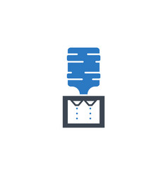 water cooler related glyph icon vector image