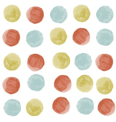 watercolor circles seamless pattern vector image