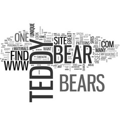 where will i find the best teddy bears text word vector image