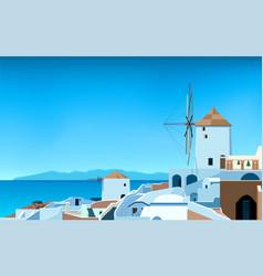 wide panorama greece landscape 02 vector image