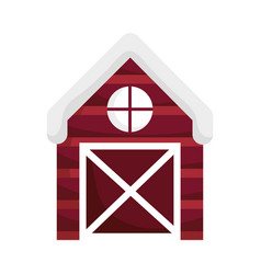 wooden barn house countryside farm cartoon vector image