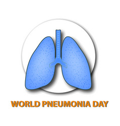 world pneumonia day structure of the lungs vector image