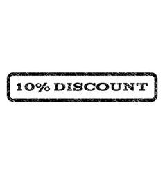 10 percent discount watermark stamp vector image