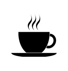 Black coffee cup icon vector image vector image
