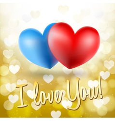 blue and red heart symbols vector image