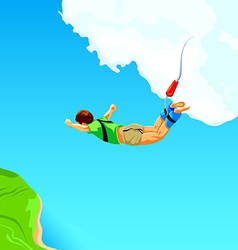 Bungee jumping vector image vector image