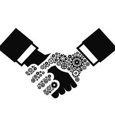 gears Handshake vector image