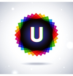 Spectrum logo icon Letter U vector image