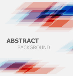 abstract blue and red business straight line vector image vector image