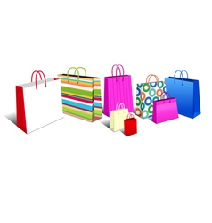 Shopping bags modern vector