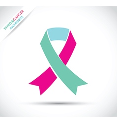 thyroid cancer awareness vector image vector image
