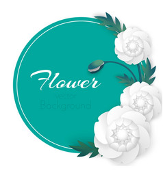 flower background with circle and white vector image vector image