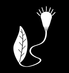 green energy icon vector image