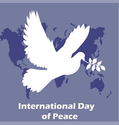 international day of peace dove of vector image vector image