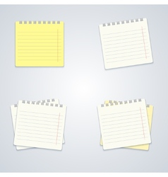 modern notebook set on gray background vector image vector image
