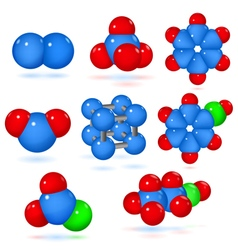Set of molecules vector image