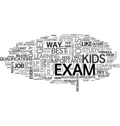 where will your kids get a job text word cloud vector image
