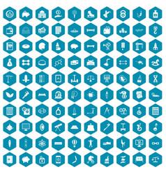100 balance icons sapphirine violet vector